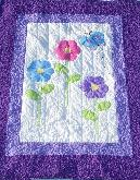 flower butterfly baby quilt