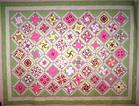 pink stack and wack quilt custom quilting