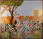 zebra african theme elephants quilting