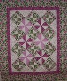 pinwheels feathers quilt