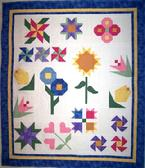 traditional flower quilt custom feathers