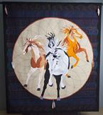 horse indian pony quilt feathers