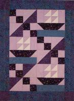 boats feathers waves quilt
