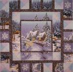 winter house outline quilting