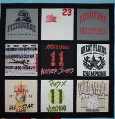 T-Shirt tshirt T Shirt quilt custom wall hanging