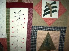 christmas folk art tree quilt