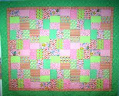 children's quilt meander flower and leaves