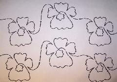pansy flower quilting
